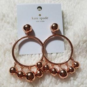 Kate Spade Rose-Gold Dangle Earrings! NEW!